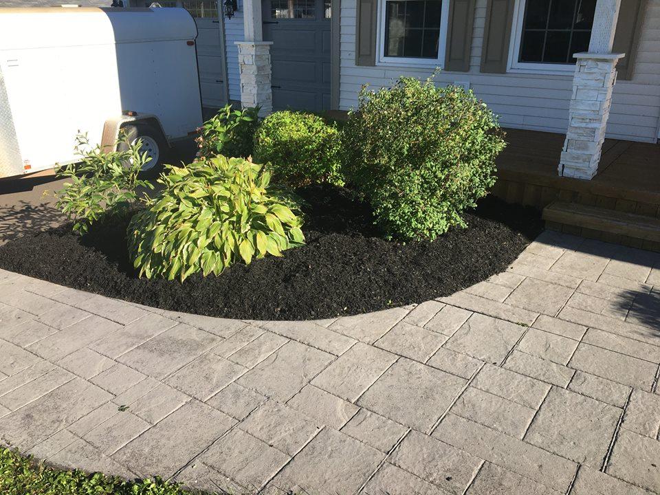 Flowerbed maintenance